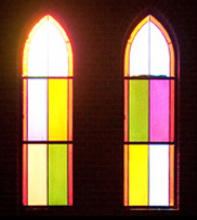 Photo of stained glass from the church