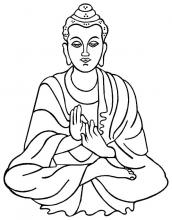 Drawing of the Buddha