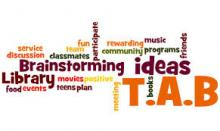 Teen Advisory Board Log (Word Cloud)