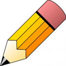 Graphic of a pencil