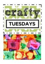 Crafty Tuesdays, Week 4 Collage, Summer Reading Program
